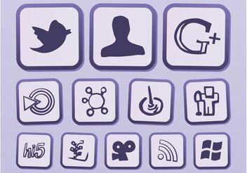 Vector Internet Icons - vector gratuit #140015
