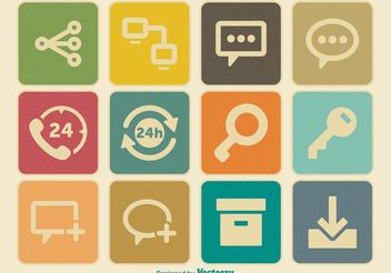 Vintage Miscellaneous Icon Set - Free vector #140025