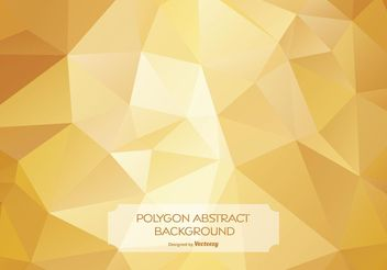 Gold Abstract Polygon Background Illustration - Free vector #140105