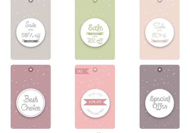 Sale and Discount Tags - Free vector #140115