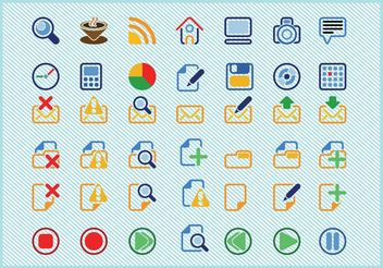 Basic Icons Vectors - Free vector #140125