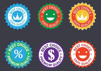 Free Colorful Vector Badge Set - Kostenloses vector #140135