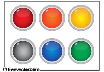 Colorful Round Buttons - vector gratuit #140275