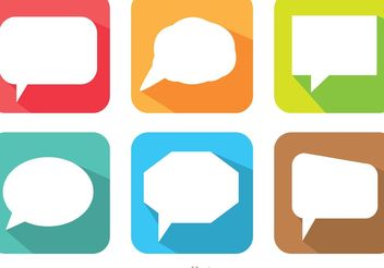 Long Shadow Speech Bubble Vector Pack - vector gratuit #140315
