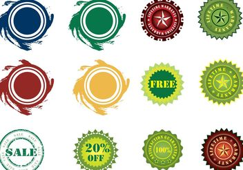 Stickers Vector Set - vector #140355 gratis