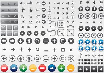 Computer Buttons Arrows - Free vector #140405