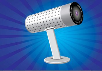 Webcam Illustration - vector gratuit #140415