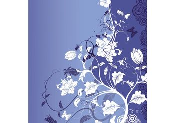 Blue Nature Backdrop - vector gratuit #140455