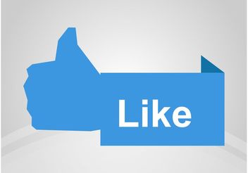 Facebook Like Banner - vector gratuit #140625
