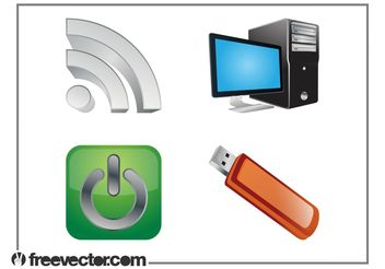 Technology Graphics Set - vector #140725 gratis