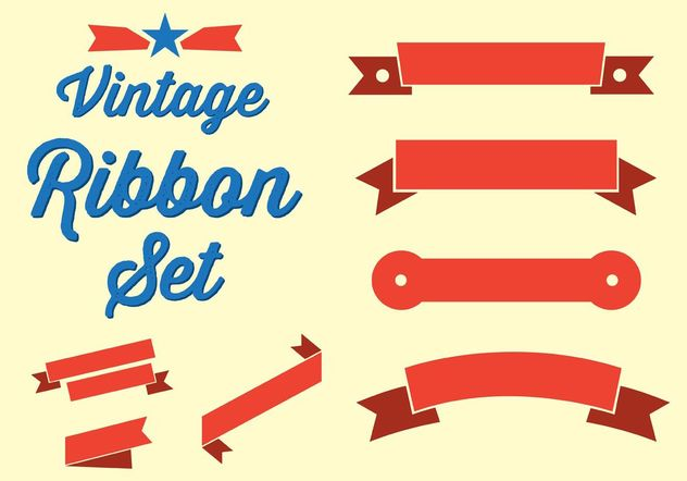 Vintage Ribbon Set - vector gratuit #140745