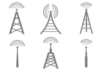 Vector Cell Tower Icons - бесплатный vector #140765