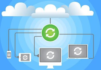 Cloud Computing Concept Vector - vector #140785 gratis