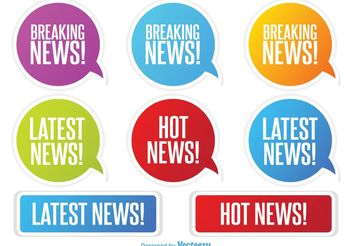 Latest News Labels - Free vector #140795