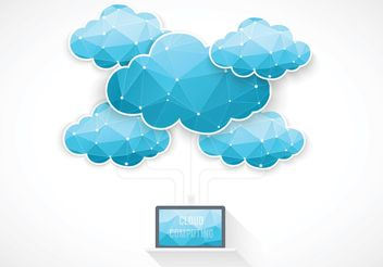 Free Vector Cloud Computing Concept - бесплатный vector #140855