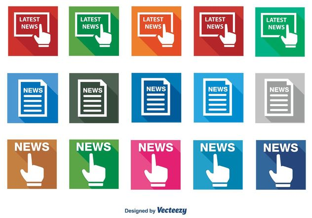 News Icon Set - vector #140865 gratis