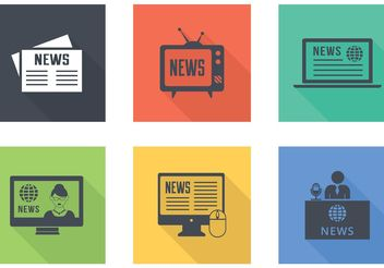 Free Latest News Vector Icons - vector gratuit #140875