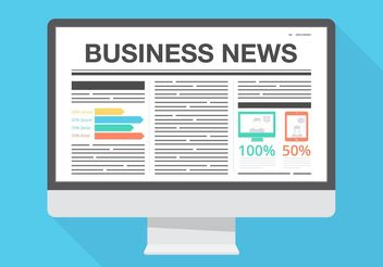 Free Vector Business News - vector gratuit #140915