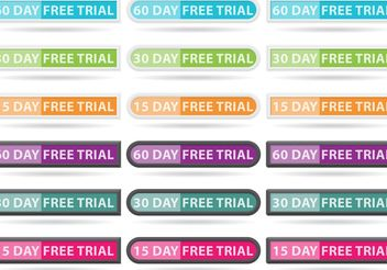 Free Trial Button Vectors - vector gratuit #141025