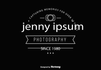 Vintage Style Photographer Logo Template - Free vector #141045
