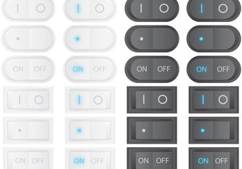 Vector On Off Switches - vector gratuit #141065