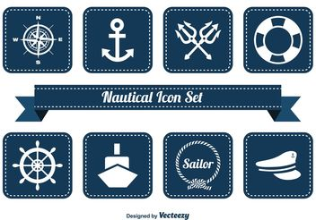Nautical Icon Set - vector #141105 gratis