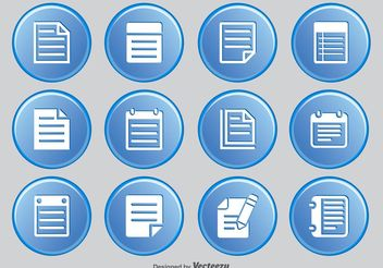 Note Icon Set - vector #141135 gratis