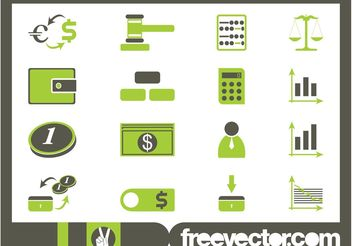 Financial Icon Set - vector #141205 gratis