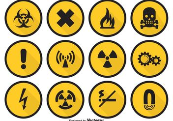 Danger Vector Icon Set - vector gratuit #141215