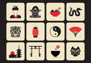 Free Chinese Vector Icon Set - Kostenloses vector #141255