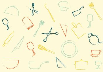 Household Icon Vector Set - vector gratuit #141265