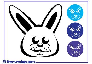 Bunny Icon Set - vector gratuit #141295