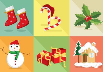 Christmas Icon Vector Set - Free vector #141305