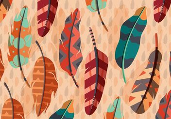 Vector Boho Feather Illustration - Free vector #141325
