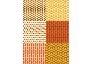 Autumn Pattern Set - Free vector #141345