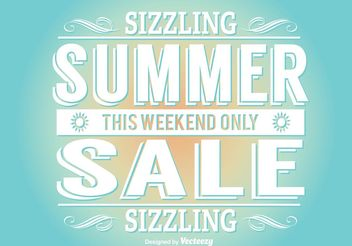 Summer Sale Illustration - vector gratuit #141615