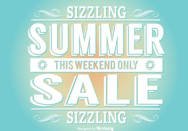 Summer Sale Illustration - Free vector #141615