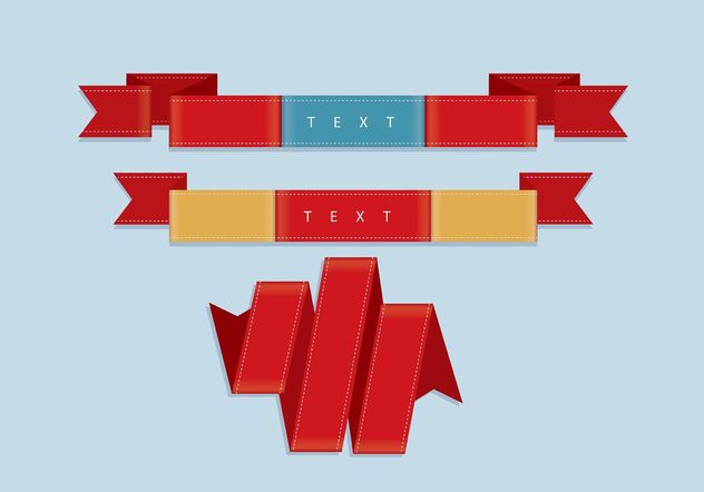 Ribbon Vectors - Free vector #141685