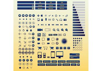 Internet Buttons Icons - vector #141725 gratis
