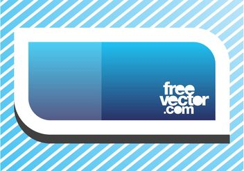 Blue Banner Sticker - vector gratuit #141825