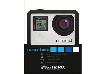 GoPRO Camera Vector Hero4 Black - vector #141845 gratis