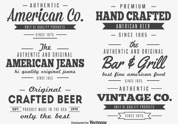 Retro Label Set - vector gratuit #141865