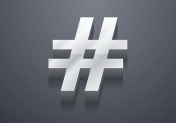 Free 3D Hashtag Vector - Free vector #141915