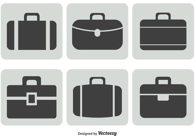 Briefcase Icon Set - Kostenloses vector #141925