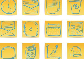 Office & Business hand draw icon - Free vector #141945