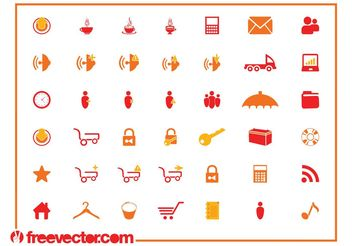 Tech Icon Set - Kostenloses vector #141965