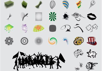Various Icons - vector #142035 gratis
