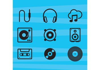 Music Vector Icons - бесплатный vector #142055