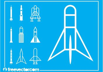Space Shuttle Icons - Free vector #142085