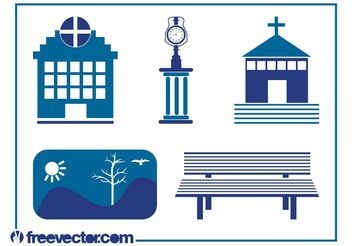 Urban Icons - vector #142125 gratis